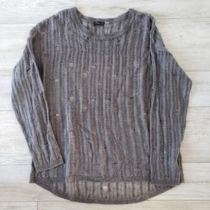 DEX distressed look sweater